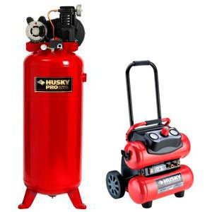 Husky air compressor: portable and stationary